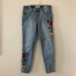 Pacsun floral embroidered jeans